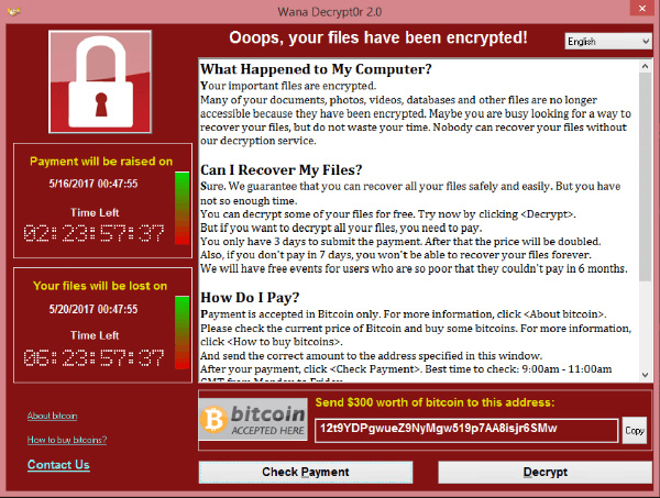 wanna cryptor ransomware