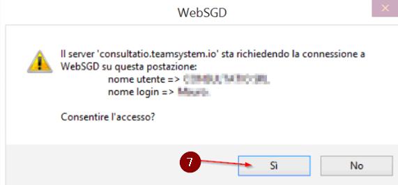 WebSGD: Conferma accesso