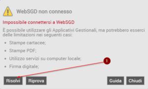 WebSGD non connesso